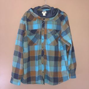 L.L Bean thick Hooded flannel size extra large